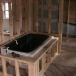 tub plumbed in house